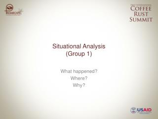 Situational Analysis (Group 1)