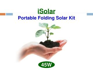 iSolar Portable Folding Solar Kit