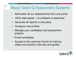 About Talent Q Assessment Systems