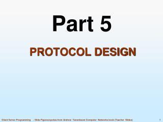 Protocol Design