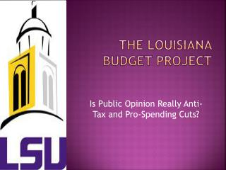 The Louisiana Budget Project