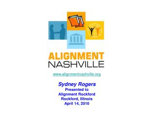 www.alignmentnashville.org Sydney Rogers Presented to Alignment Rockford Rockford, Illinois April 14, 2010