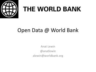 Open Data @ World Bank