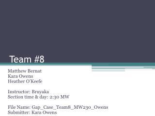 Team #8