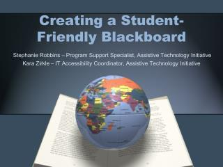 Creating a Student-Friendly Blackboard