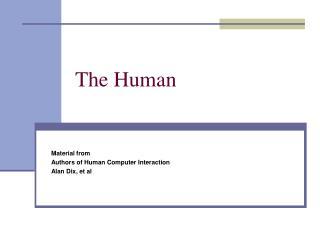 the human