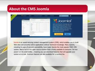 About the CMS  Joomla