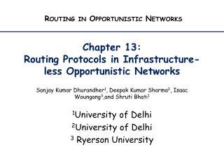 1 University of Delhi 2 University of Delhi 3  Ryerson University
