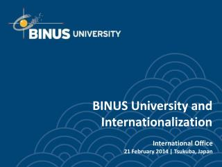 BINUS University and Internationalization