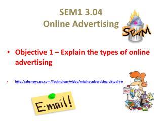 SEM1 3.04 Online Advertising