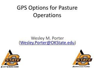 GPS Options for Pasture Operations