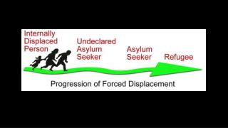 Leading Countries Producing Forcibly Displaced People: Syria, Colombia, DR Congo, Afghanistan, Sudan, Somalia, Iraq, CA