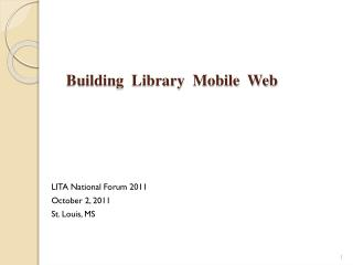 Building  Library  Mobile  Web