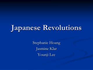 Japanese Revolutions