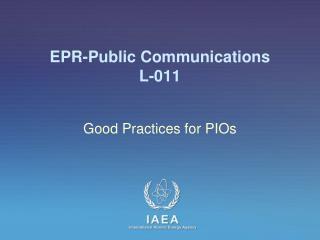 EPR-Public Communications L-011