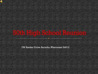 50th High School Reunion