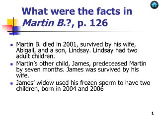 What were the facts in  Martin B .?, p. 126