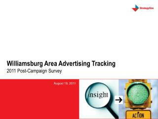 Williamsburg Area Advertising Tracking 2011  Post-Campaign Survey
