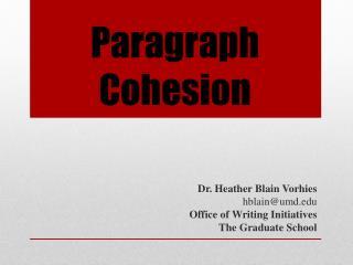 Paragraph Cohesion