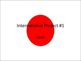 International Project #1