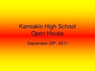 Kamiakin High School Open House
