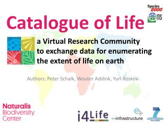 a  Virtual Research Community  to exchange data for enumerating  the  extent of life  on  earth