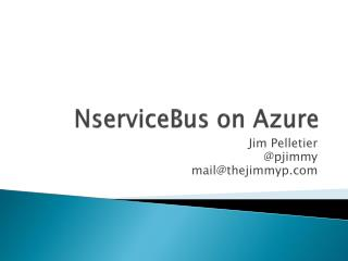 NserviceBus  on Azure