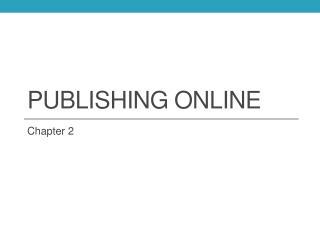 Publishing Online