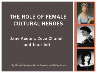 The Role of Female Cultural Heroes