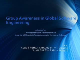 Group Awareness in Global Software Engineering