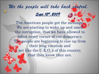 We the people will take back control.