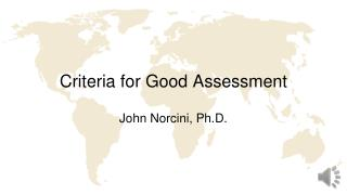 Criteria for Good Assessment