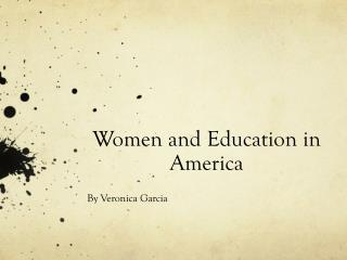 Women and Education in America