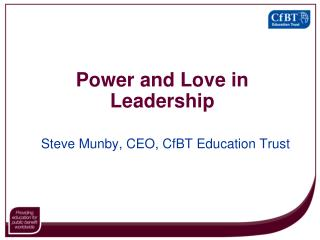 Power and Love in Leadership