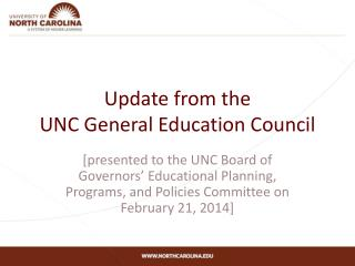 Update from the UNC General Education Council