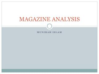 MAGAZINE ANALYSIS