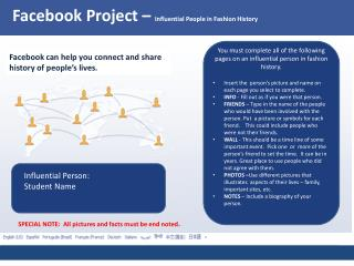 Facebook Project –  Influential People in Fashion History