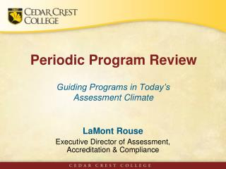 Periodic Program Review