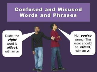Confused and Misused Words and Phrases