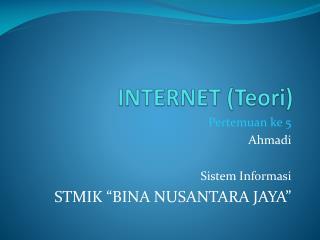 INTERNET (Teori)