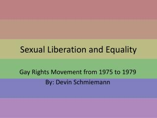 Sexual Liberation and Equality