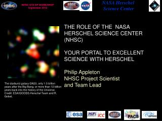 THE ROLE OF THE  NASA HERSCHEL SCIENCE CENTER (NHSC) YOUR PORTAL TO EXCELLENT SCIENCE WITH HERSCHEL Philip Appleton NHS