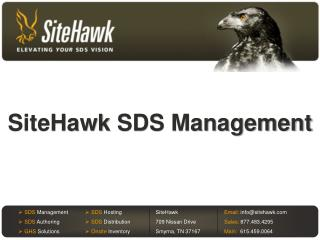 SiteHawk  SDS Management