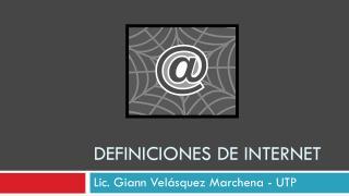 Definiciones  de internet