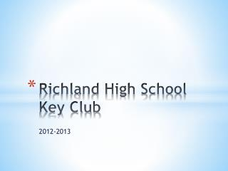 Richland High School Key Club