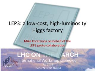 LEP3:  a low-cost, high-luminosity Higgs factory