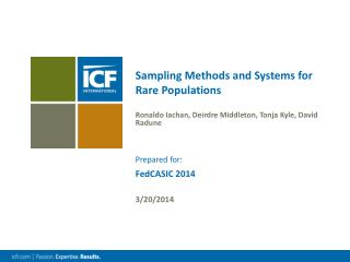 Sampling Methods and Systems for Rare Populations