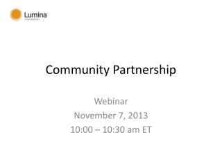 Community Partnership