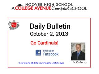 Daily Bulletin October 2, 2013