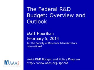 The Federal R&D Budget: Overview and Outlook